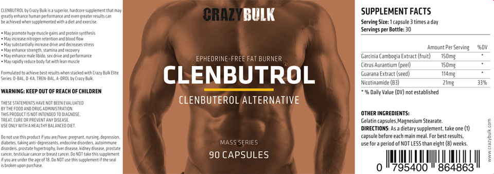 Clenbutrol-CrazyBulk-label