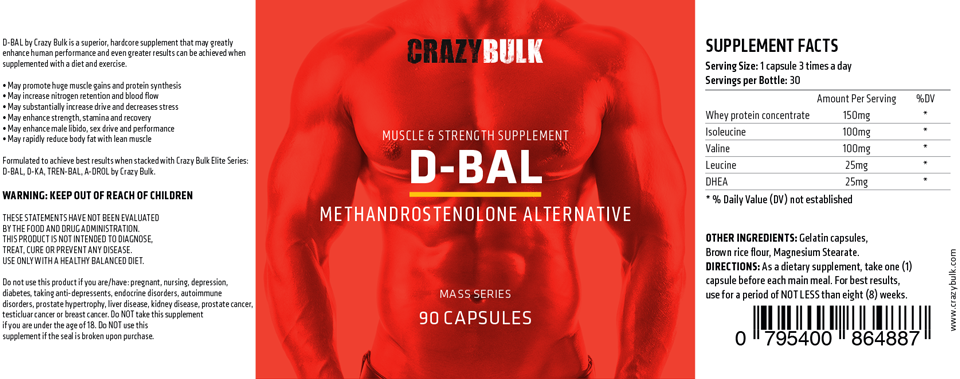 D-Bal Review (2019) √ | → The Best Legal Dianabol Alternative?